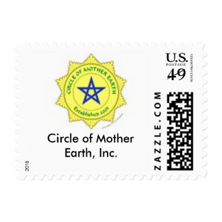 Circle of Mother Earth first class postage stamp