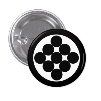 Circle of Nine 1 Inch Round Button