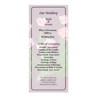 Circle of Pink Tulips Wedding Program