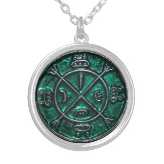 Circle of protection amulet round pendant necklace