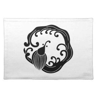 Circle of rainy dragon place mat