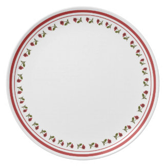 Circle of red Roses - Floral Photography Cut Out Dinner Plate