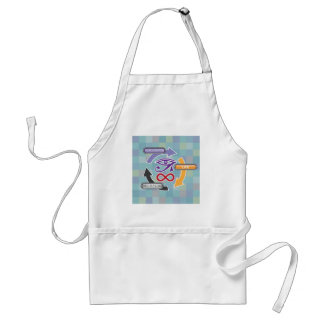 Circle of Reincarnation Life and Death Adult Apron