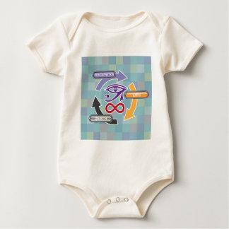 Circle of Reincarnation Life and Death Baby Bodysuit