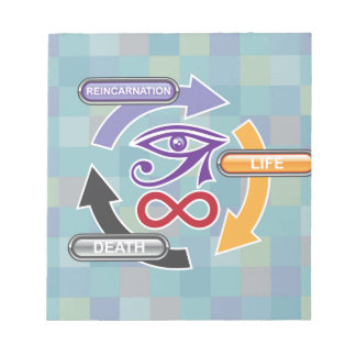 Circle of Reincarnation Life and Death Notepad
