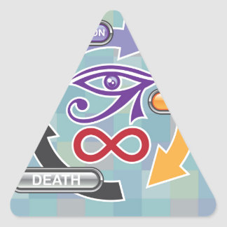 Circle of Reincarnation Life and Death Triangle Sticker