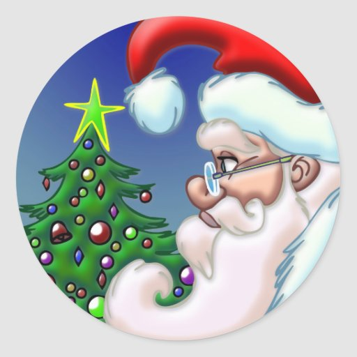 Circle of Santa Sticker