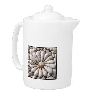 Circle of Sea Shells Large Teapot