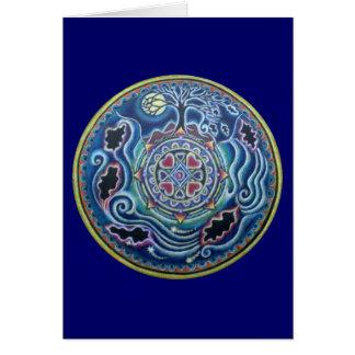 Circle of the Seasons- Fall Equinox Mandala Greeting Card