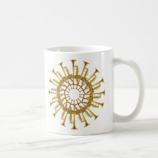 Circle of Trumpets Classic White Coffee Mug