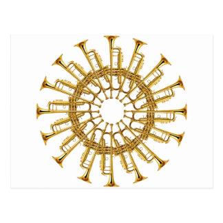 Circle of Trumpets Postcard