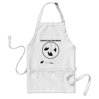 Circle of Trussed / Trust Wordplay Adult Apron