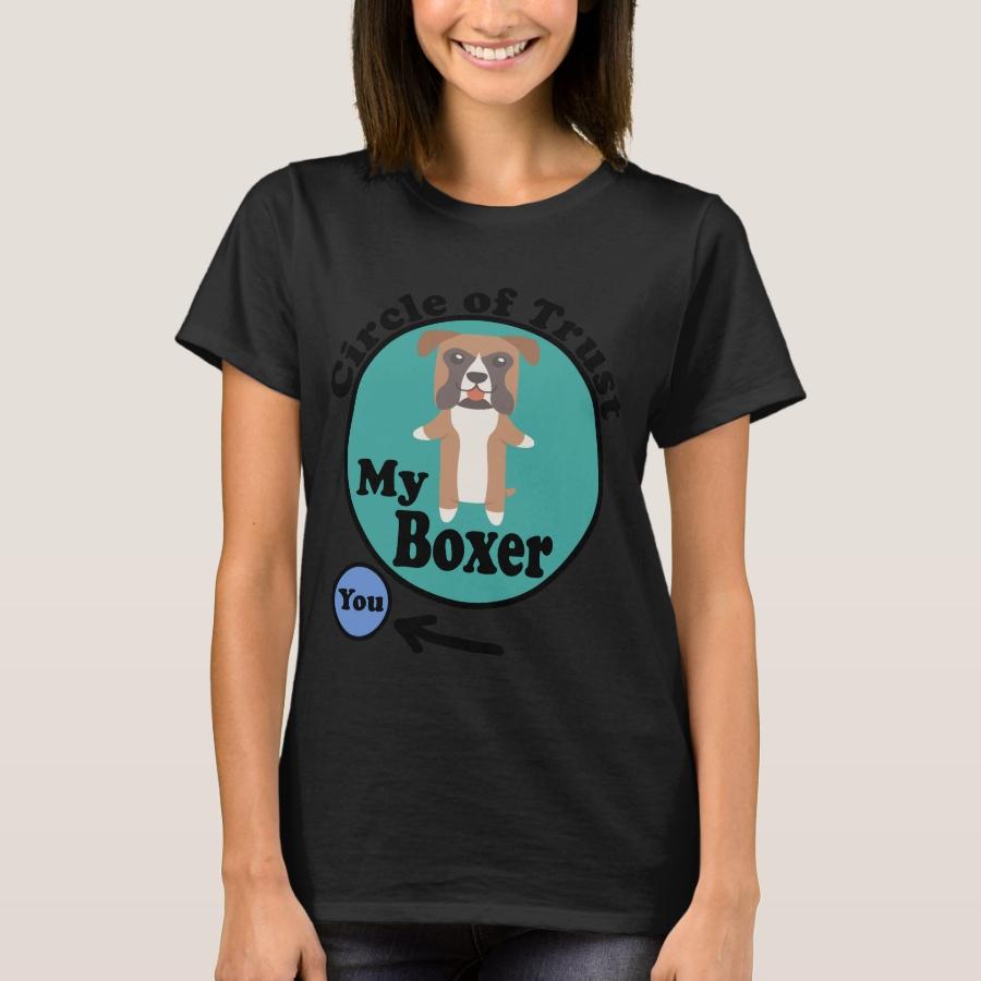 Circle Of Trust Cute Boxer T-Shirt - Best Selling Long-Sleeve Street Fashion Shirt Designs