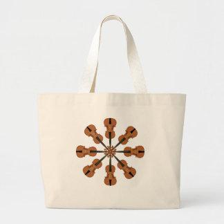 Circle of Violins Jumbo Tote Bag