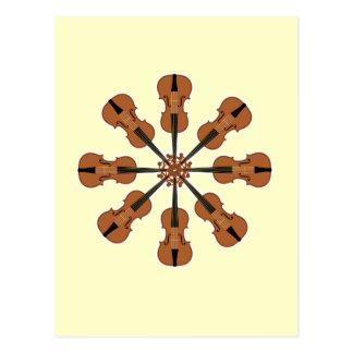 Circle of Violins Postcard