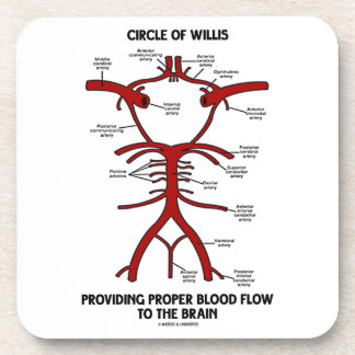 Circle Of Willis Providing Proper Blood Flow Brain Beverage Coaster