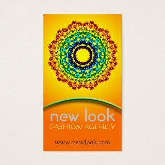 Circle Ornament Mandala Art , Business Card