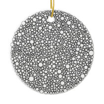 Circle Packings Pattern Ceramic Ornament