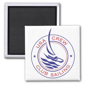 Circle Patch_USA Crew Club Sailing magnet