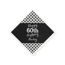 Circle pattern 60th birthday paper napkins
