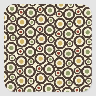 Circle Pattern Background Square Sticker