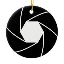 circle pattern ceramic ornament
