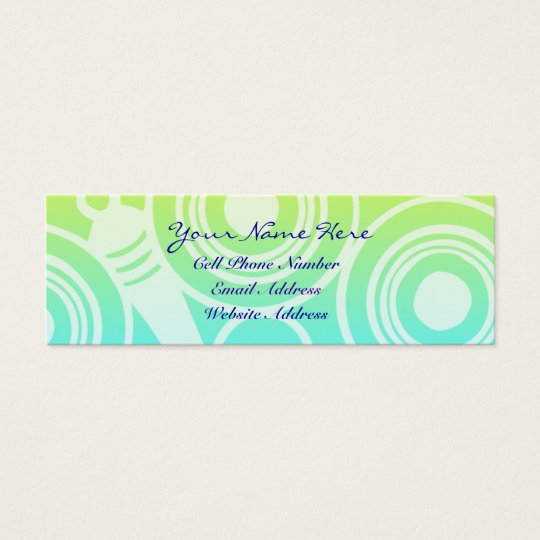 Circle Pattern Geometric Profile And Business Card