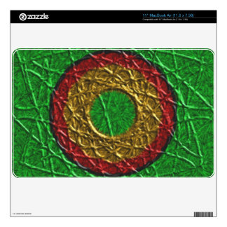 """Circle pattern on green background skin for 11"""" MacBook air"""
