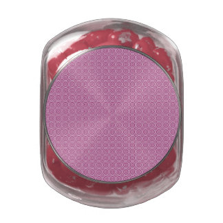 Circle Pattern tins & jars Glass Candy Jar