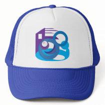 Circle Pattern Trucker Hat