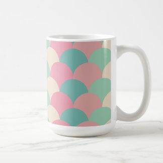 Circle pattern white Mug