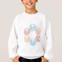 Circle-Pattern-(White) Sweatshirt