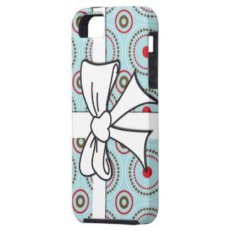 Circle Pattern with Bow iPhone 5 Cases