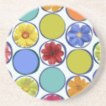 Circle pattern with flowers .JPEG Beverage Coaster