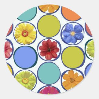 Circle pattern with flowers .JPEG Classic Round Sticker
