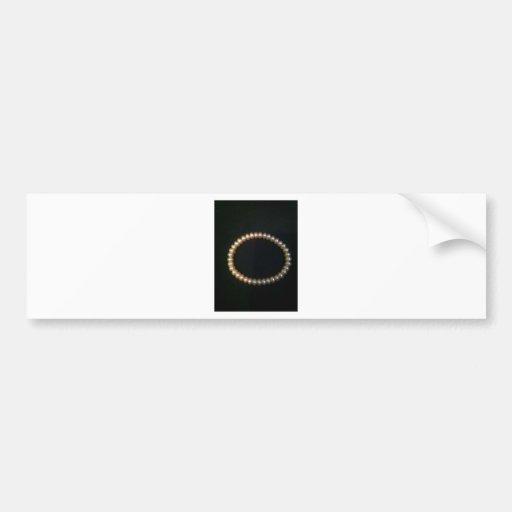 Circle Pearl Bumper Sticker