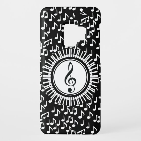 Circle Piano Keys and Treble Clef Case-Mate Samsung Galaxy S9 Case
