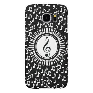 Circle Piano Keys and Treble Clef Samsung Galaxy S6 Case