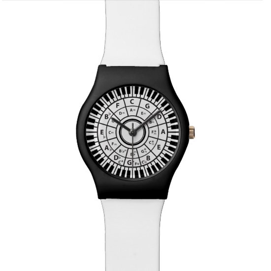 Circle Piano Keys Circle of Fifths Wrist Watch