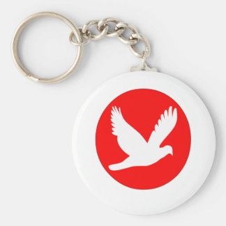 Circle & pigeon .png of day basic round button keychain