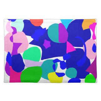 Circle Play Cloud Animal Trace Fish Water Placemat