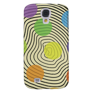 circle pokadot white cream samsung galaxy4 case