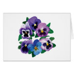 Circle Purple Pansies Card