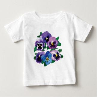 Circle Purple Pansies Infant's Tshirt