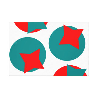 Circle Red and Blue Fractal art design Canvas Print