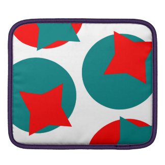 Circle Red and Blue Fractal art design iPad Sleeves
