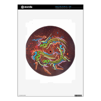 circle-red-fume decal for iPad 2