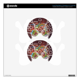 circle-red-fume PS3 controller skins