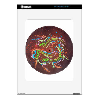circle-red-fume skins for iPad