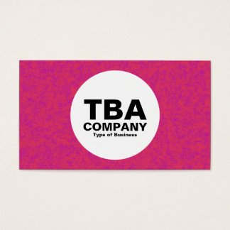Circle - Red Mineral Business Card